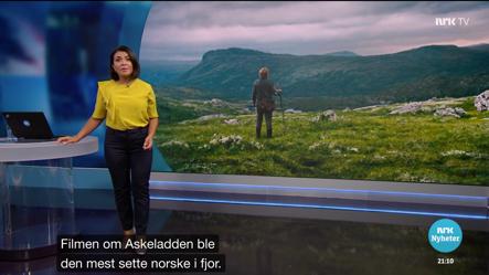 Et bilde tatt fra Dagsrevyen ifm lanseringen av Askeladden.